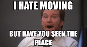 parks and relocation moving meme